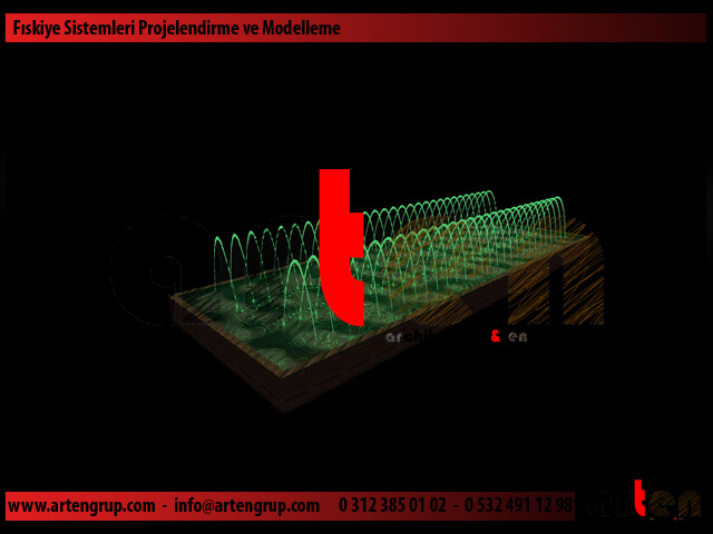 Süs havuzu kuru havuz müzikli danslı Fıskiye Sistemi Proje ve Modelleme