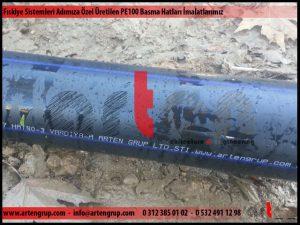 Fıskiye sistemleri PE100 basma hatları imalatlarımız