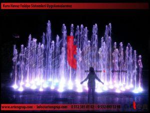 Müzikli Danslı Kuru havuz fıskiye sistemi uygulaması 2