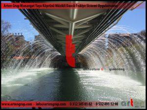 Manavgat Yaya Köprüsü Müzikli Danslı Fıskiye Sistemi Uygulamamız