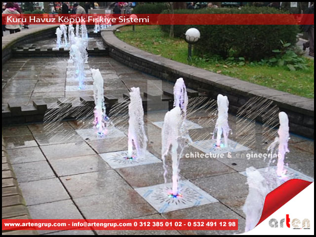 Kuru Havuz Süs Havuzu Müzikli Danslı Fıskiye Sistemi